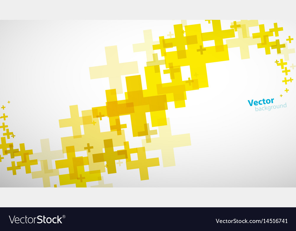 Abstract background created of yellow plus sign