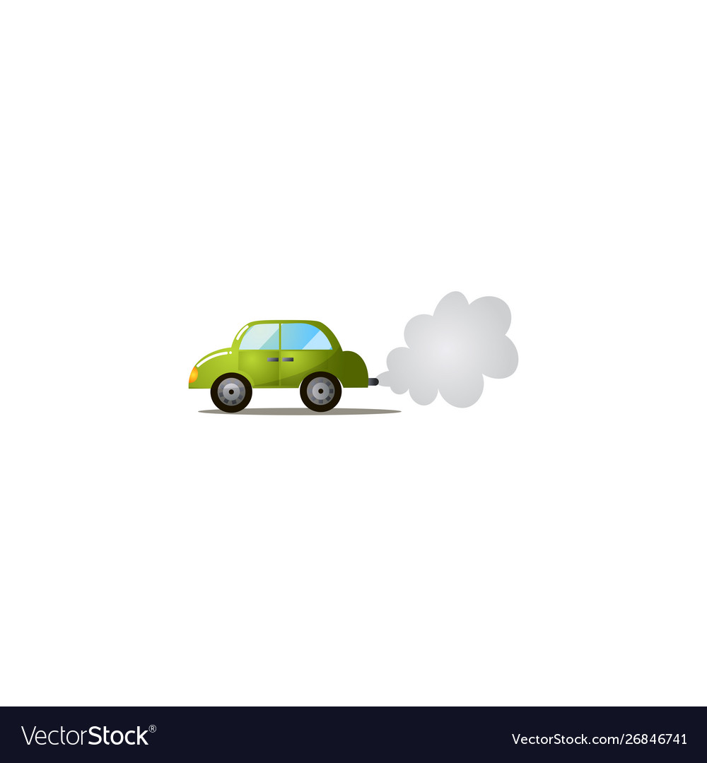 Car Exhaust Co2 Smoke Raster In