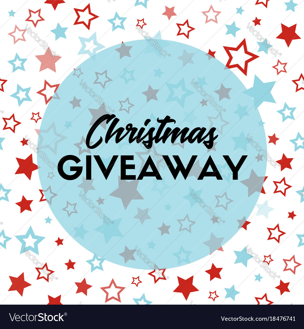 Christmas giveaway banner template for blogs vector image