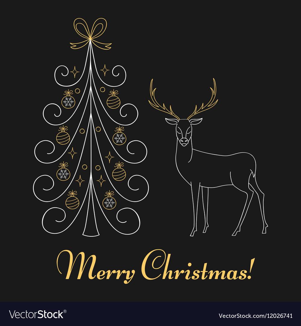 Christmas tree and reindeer