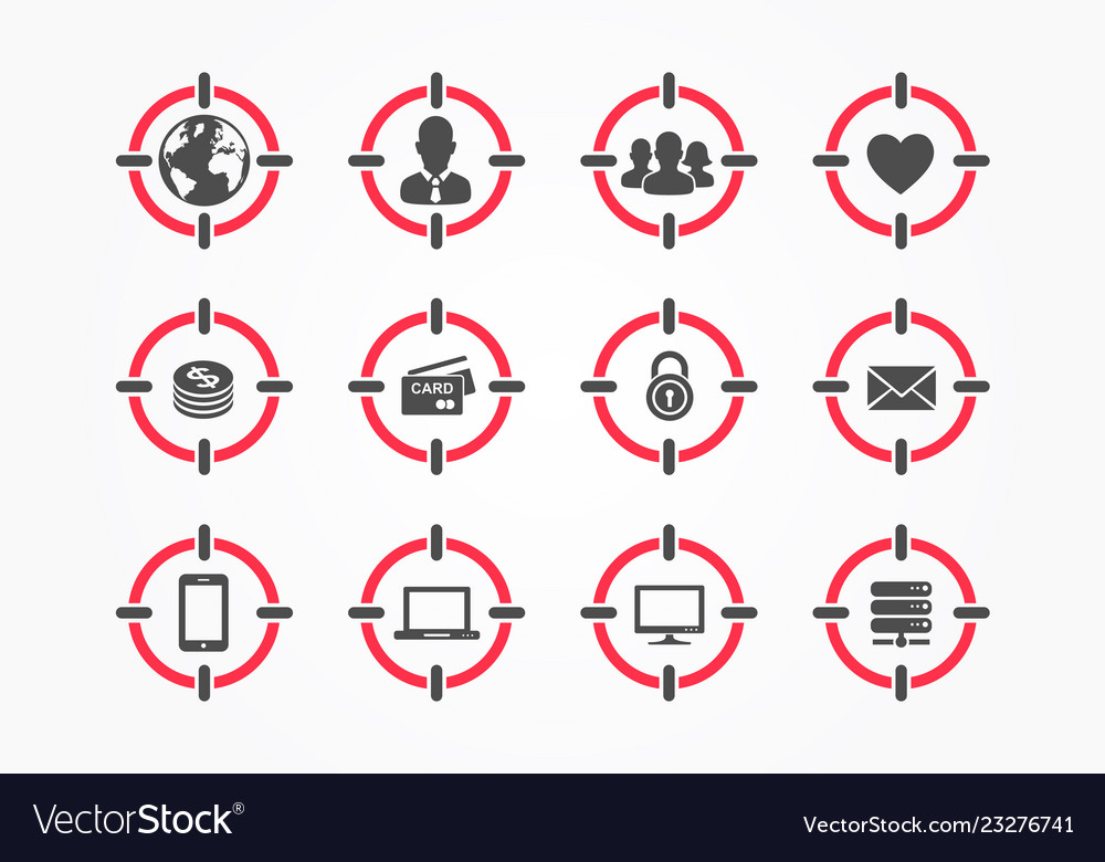 Composite icons with audience world men etc