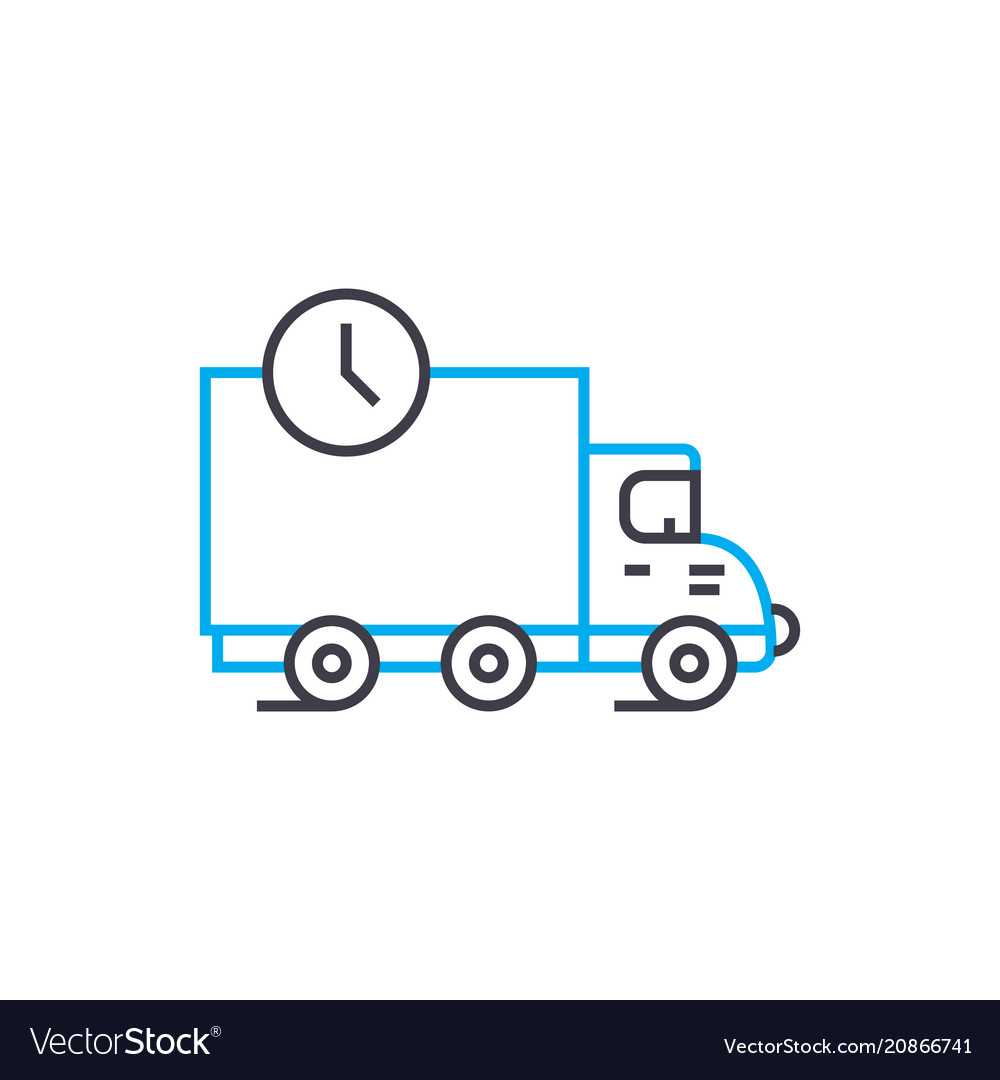 Delivery terms thin line stroke icon