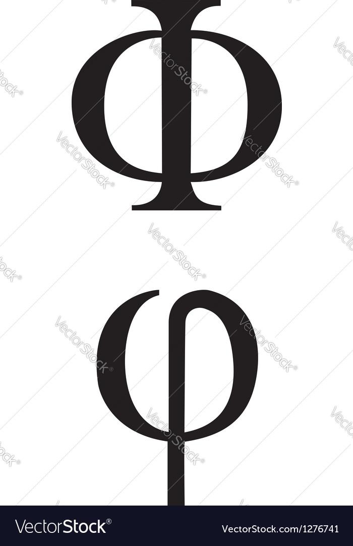 Greek Symbol Phi Royalty Free Vector Image Vectorstock