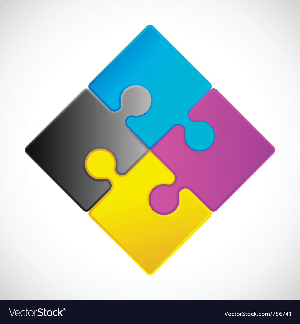 Jigsaw puzzle icon vector image