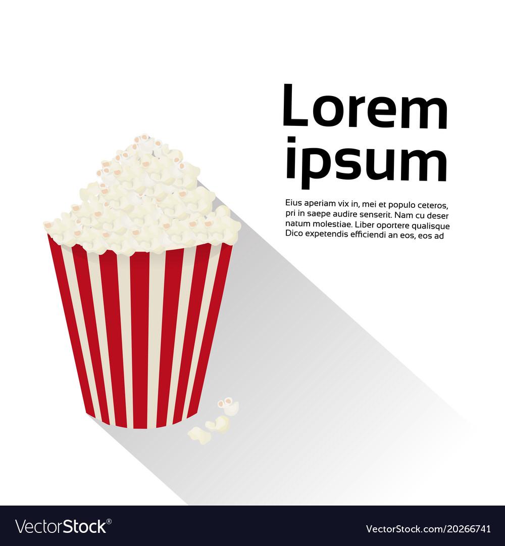 Popcorn box isolated food cinema movie concept