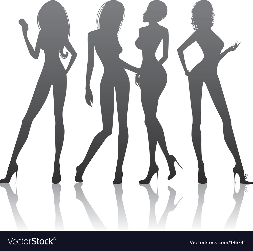 Womens Silhouette Royalty Free Vector Image Vectorstock