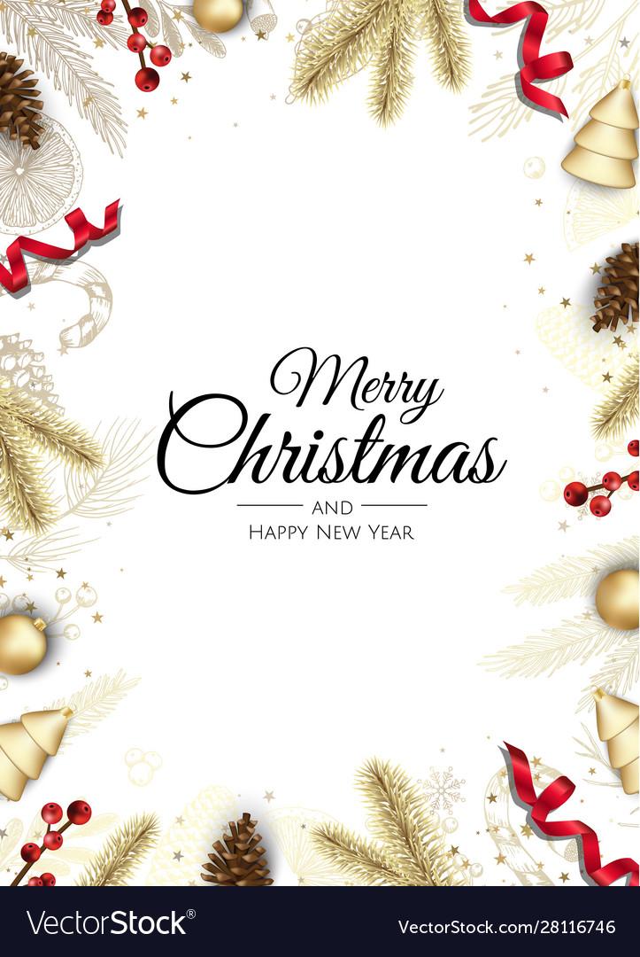 Christmas greeting card with tree