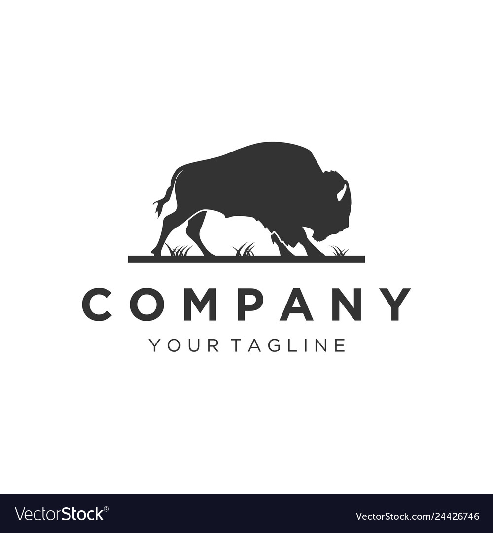 Silhouette bull logo designs