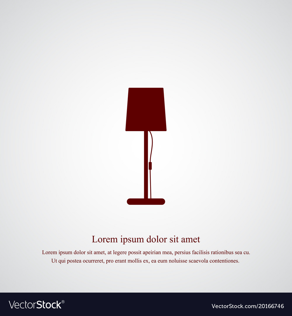 Stand lamp icon simple