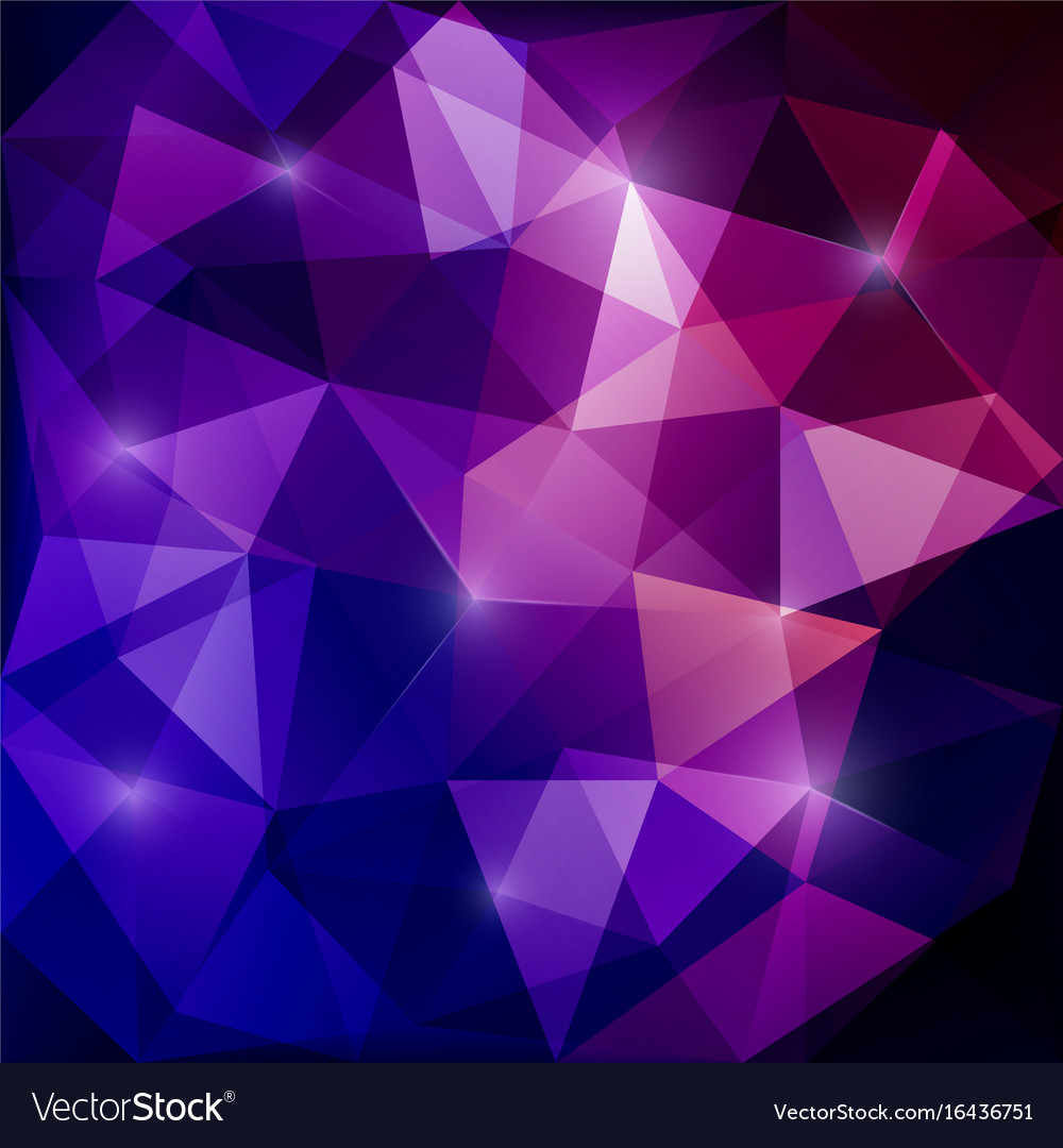 Purple Polygonal Abstract Background: Abstract Triangular Mosaic Purple Background Vector Image