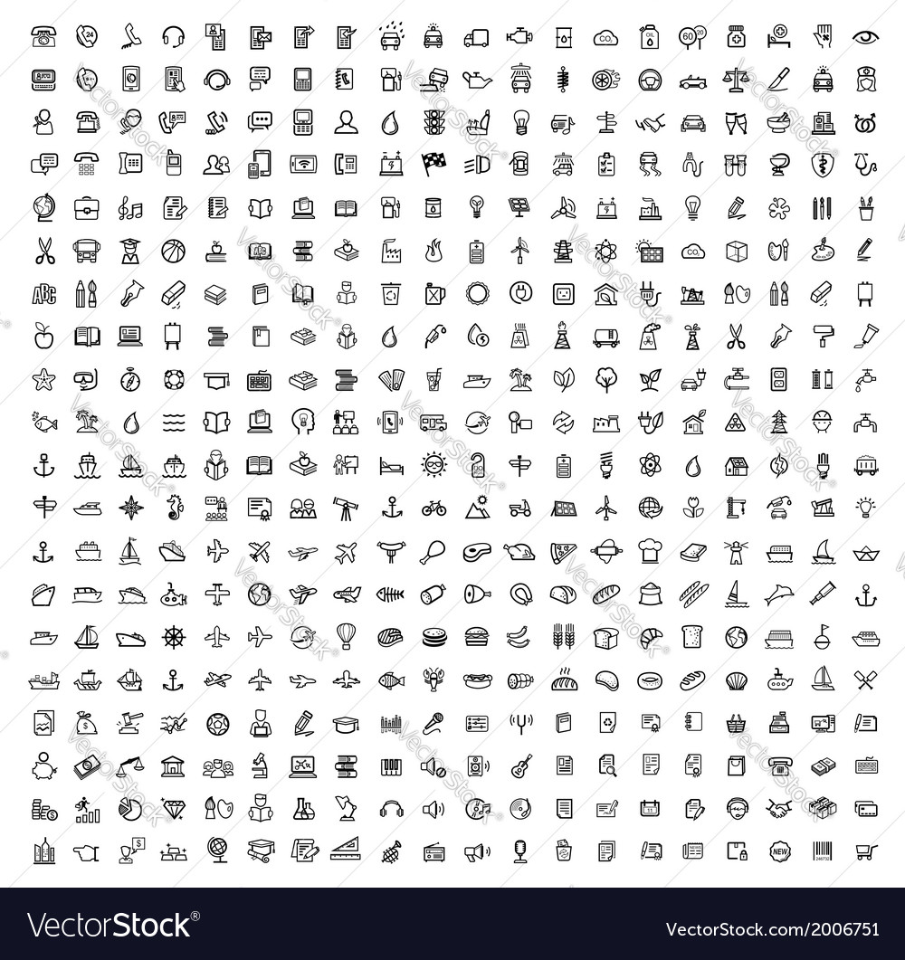 Black 400 universal web icons set