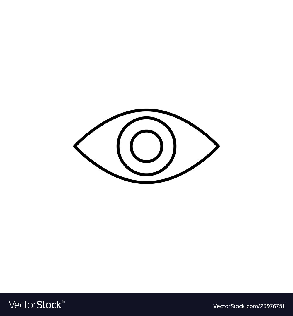 Eye view outline icon signs and symbols can be