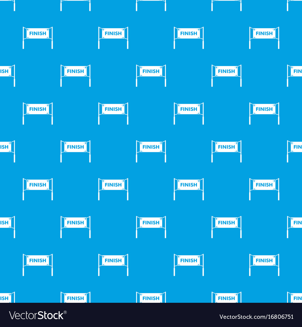 Finish line gates pattern seamless blue