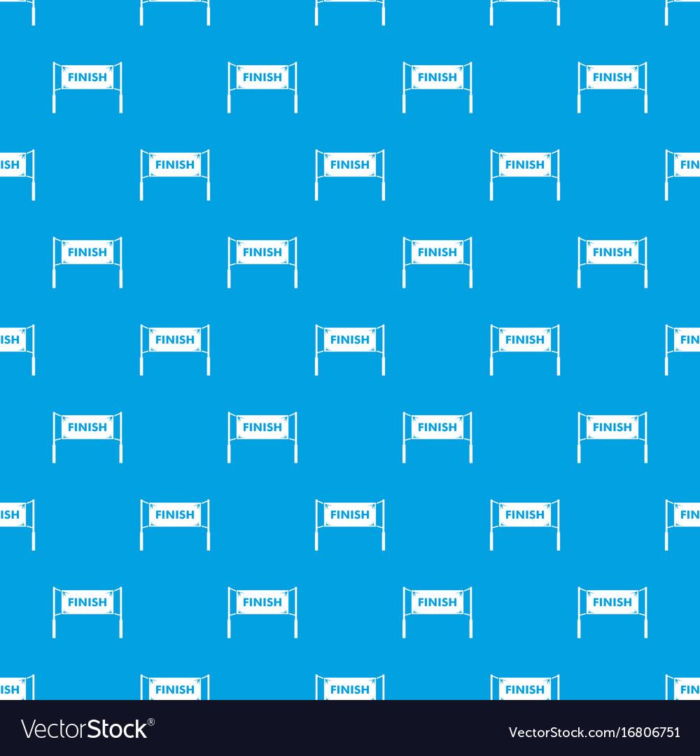 Finish line gates pattern seamless blue vector image