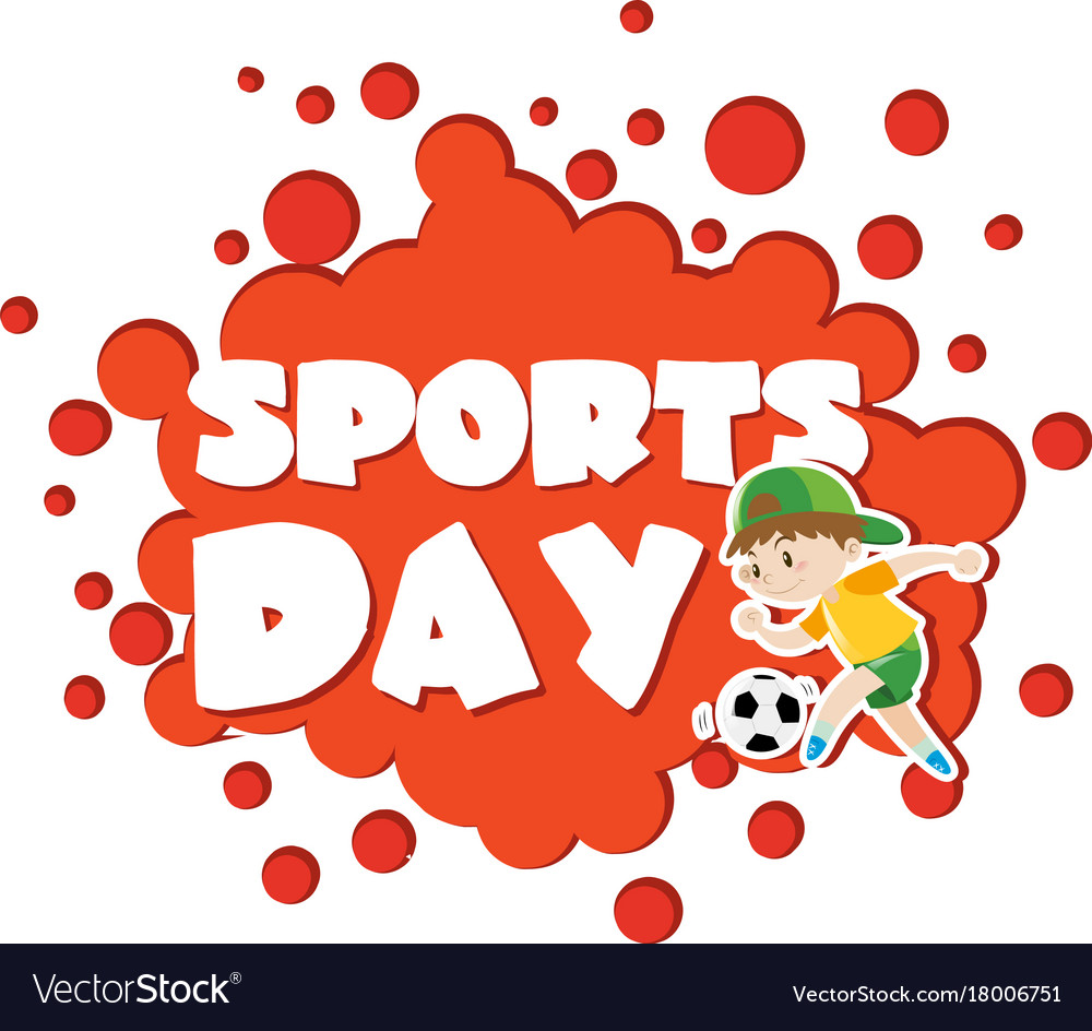 poster design with sports day theme royalty free vector