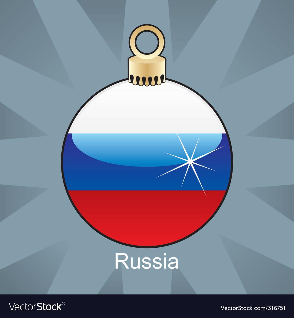 Russia flag on bulb vector image