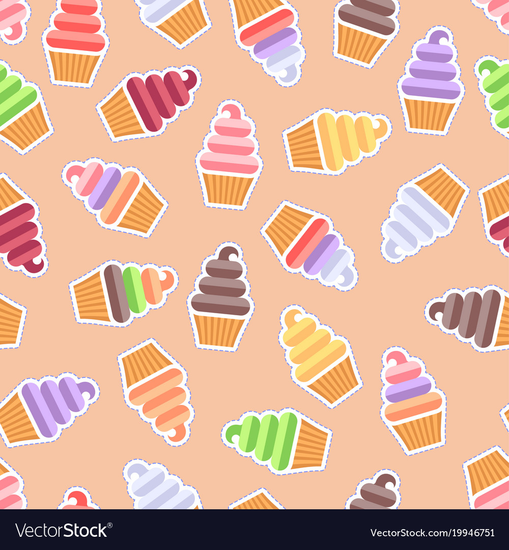 Seamless pattern ice cream background