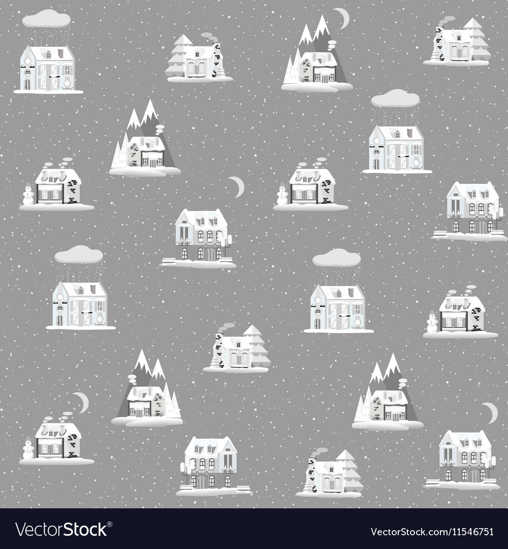 Seamless pattern with decorative colorful houses vector image