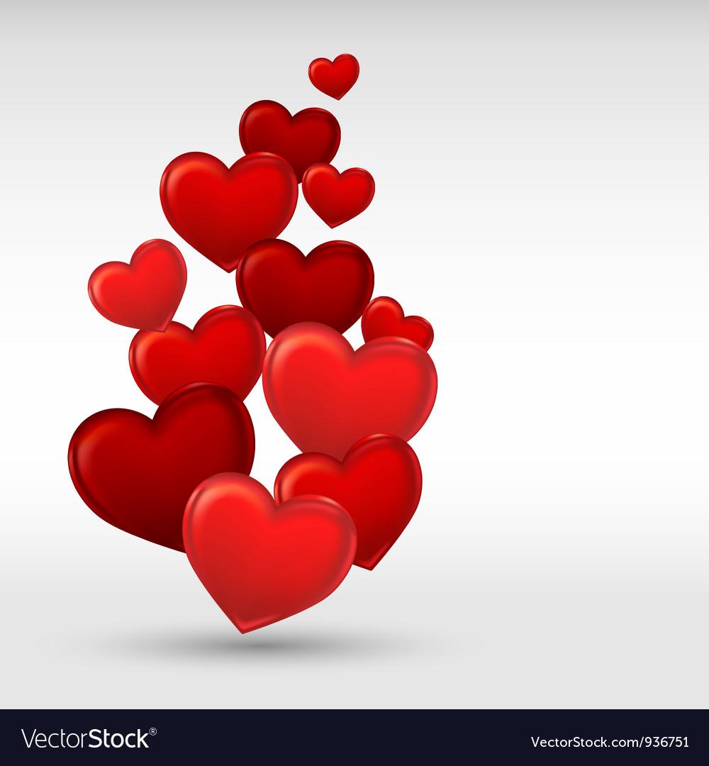 Stylish red valentine day heart background