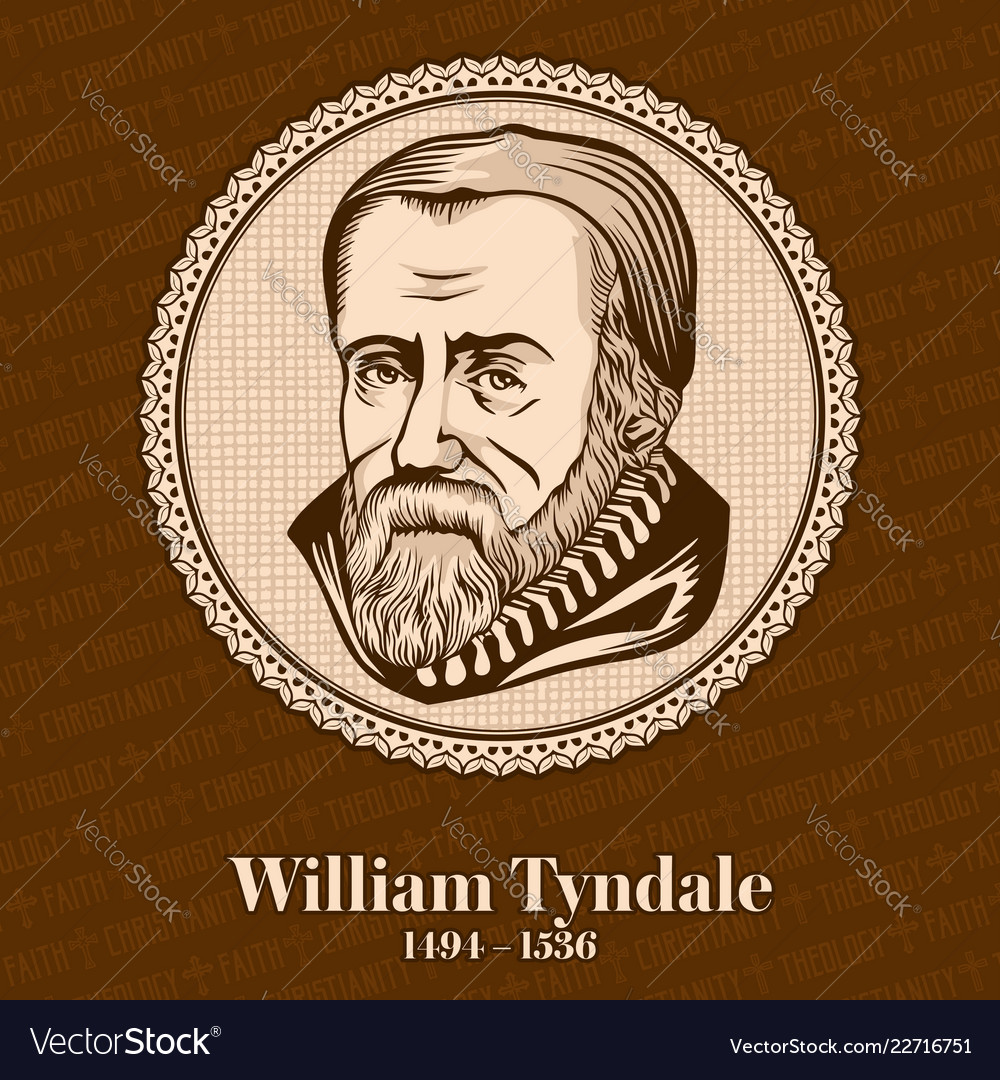 William tyndale was an english scholar vector image