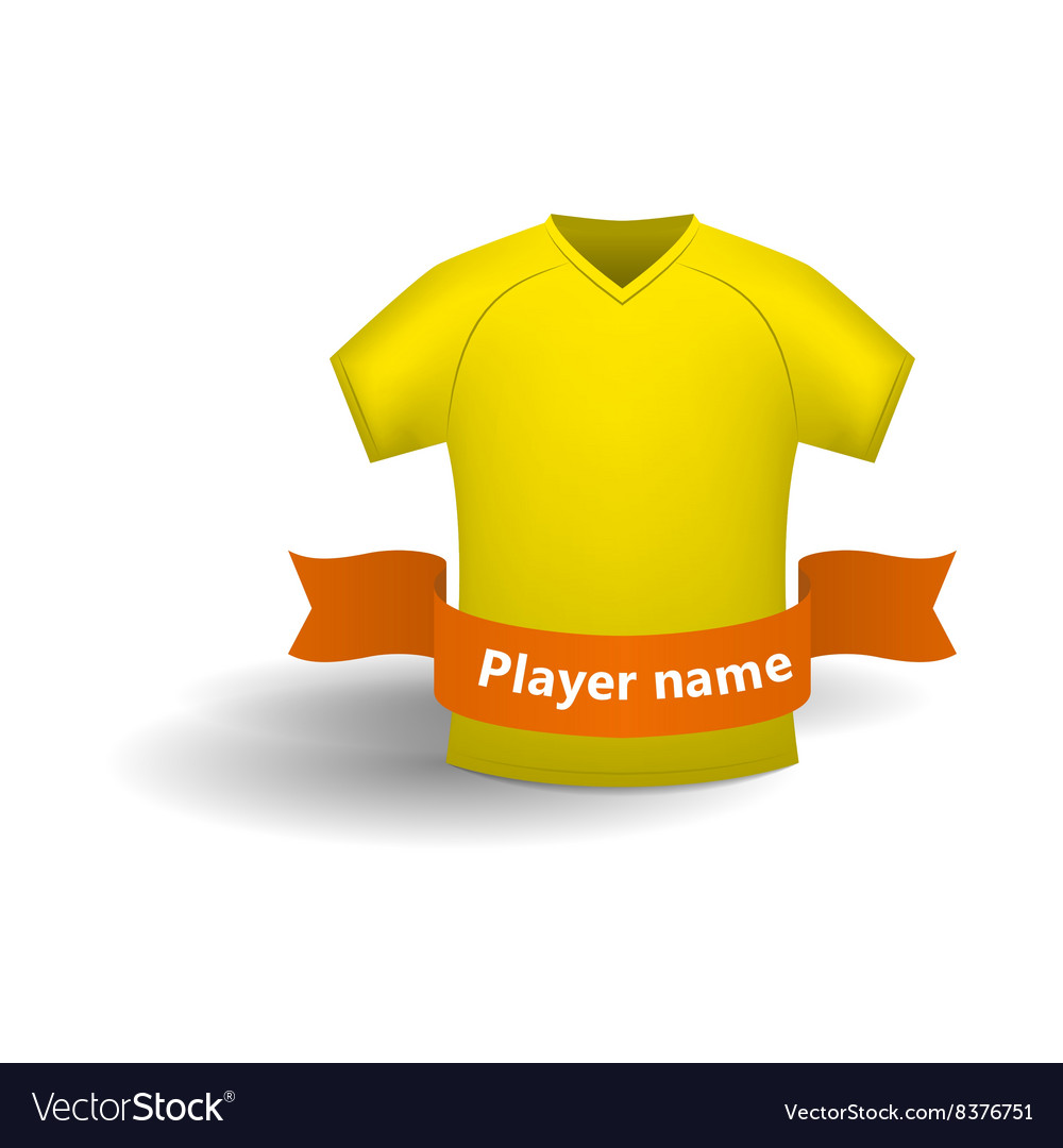Yellow sports shirt icon cartoon style