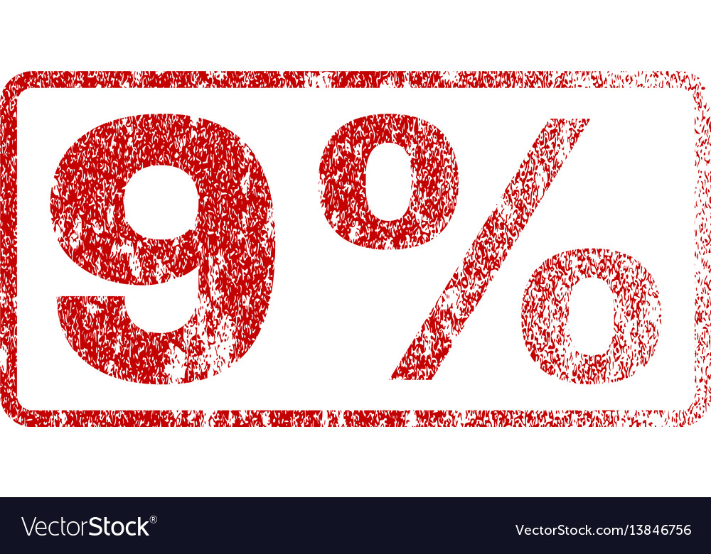 9 percent rubber stamp