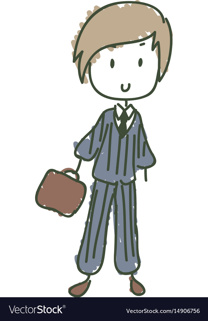 Business kid vector image