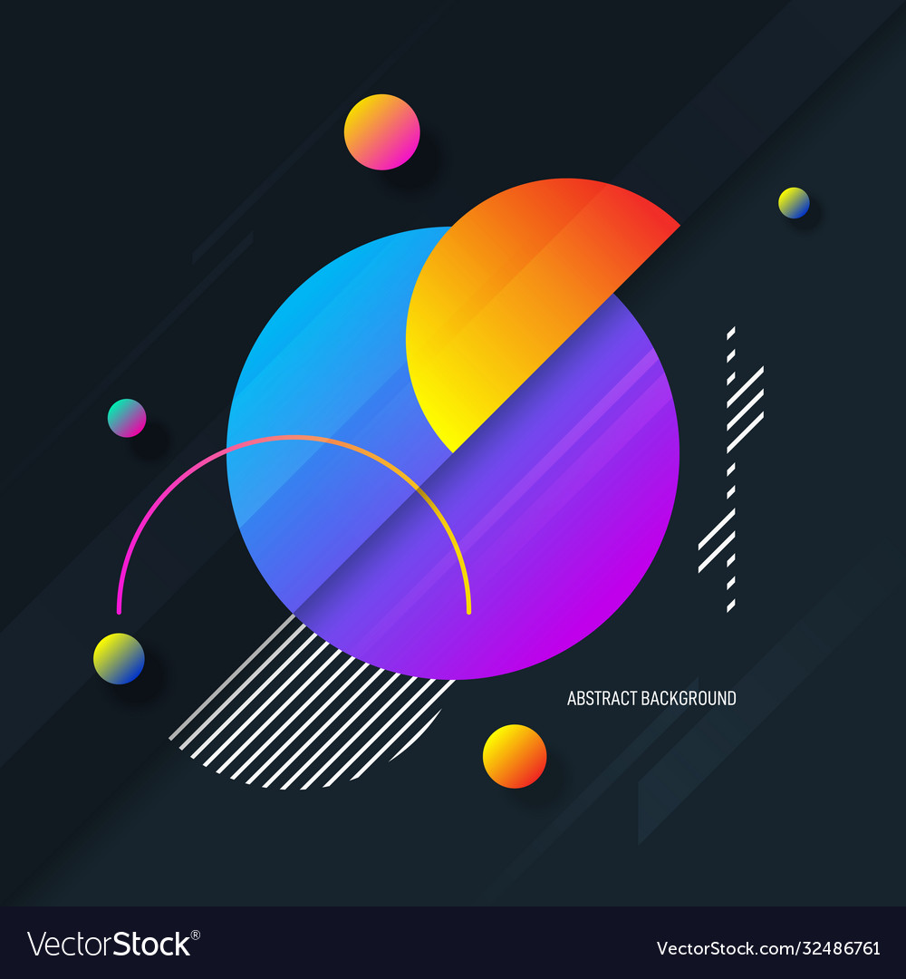 Abstract colorful gradient geometric shape