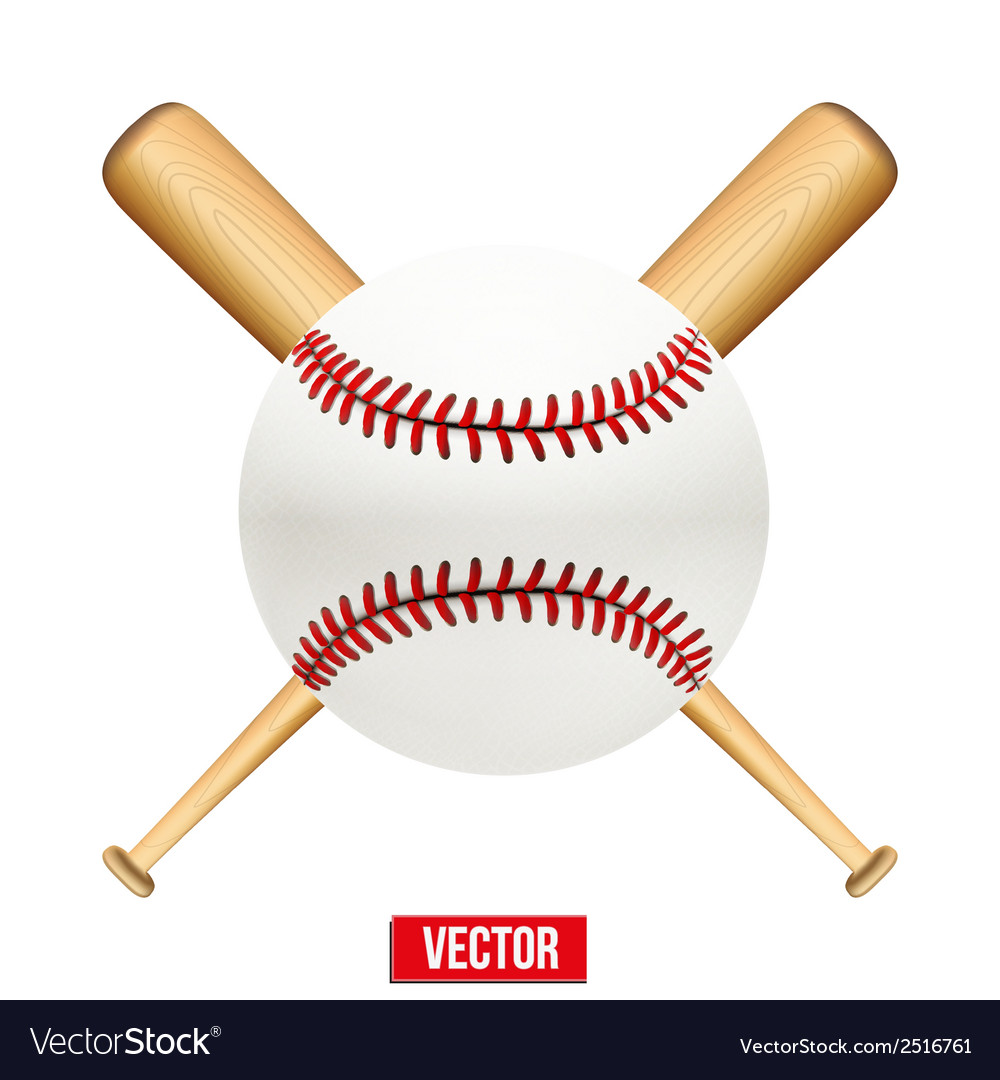 Baseball leather ball and wooden bats