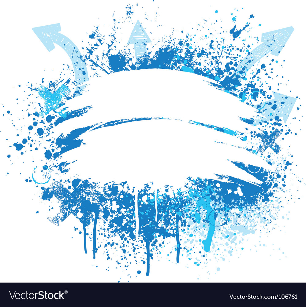 Blue and white grunge design vector image