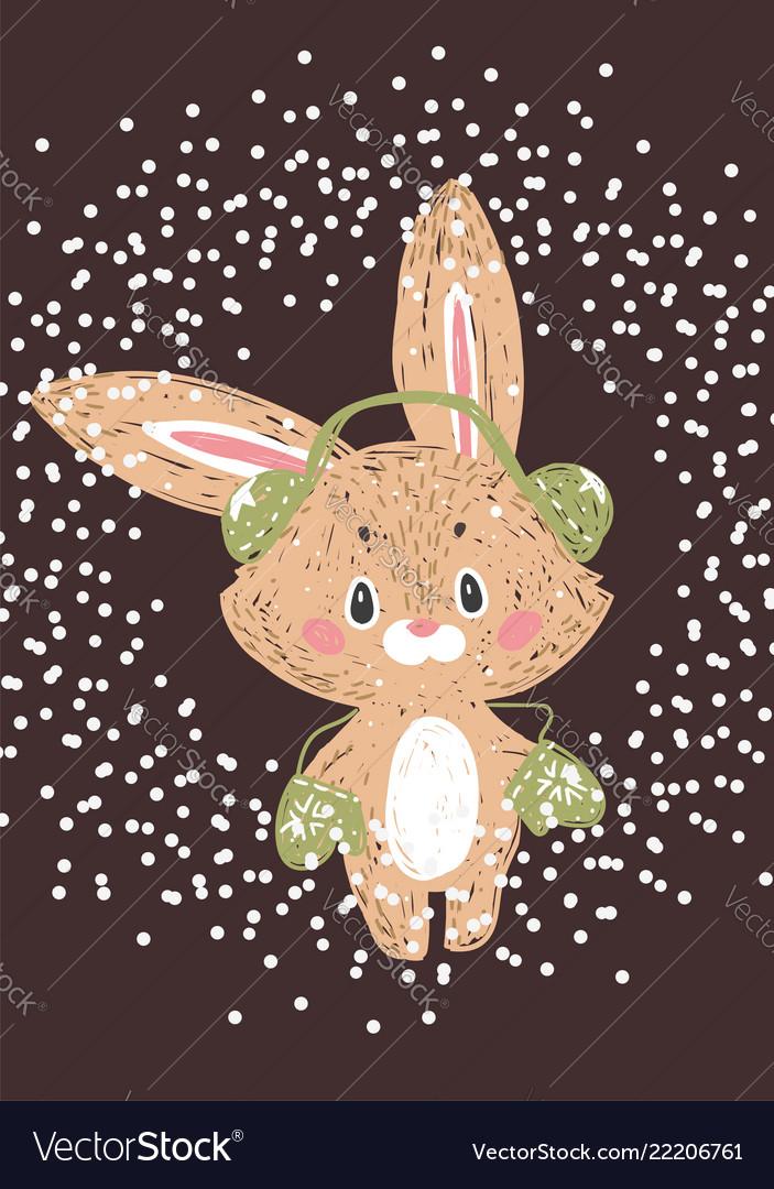 Christmas poster wuth bunny