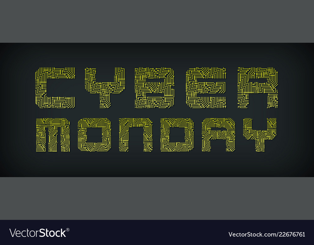 Cyber monday yellow-green text from printed