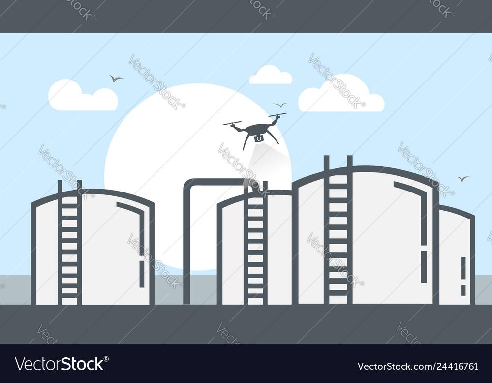 Drone inspection petroleum storage tanks