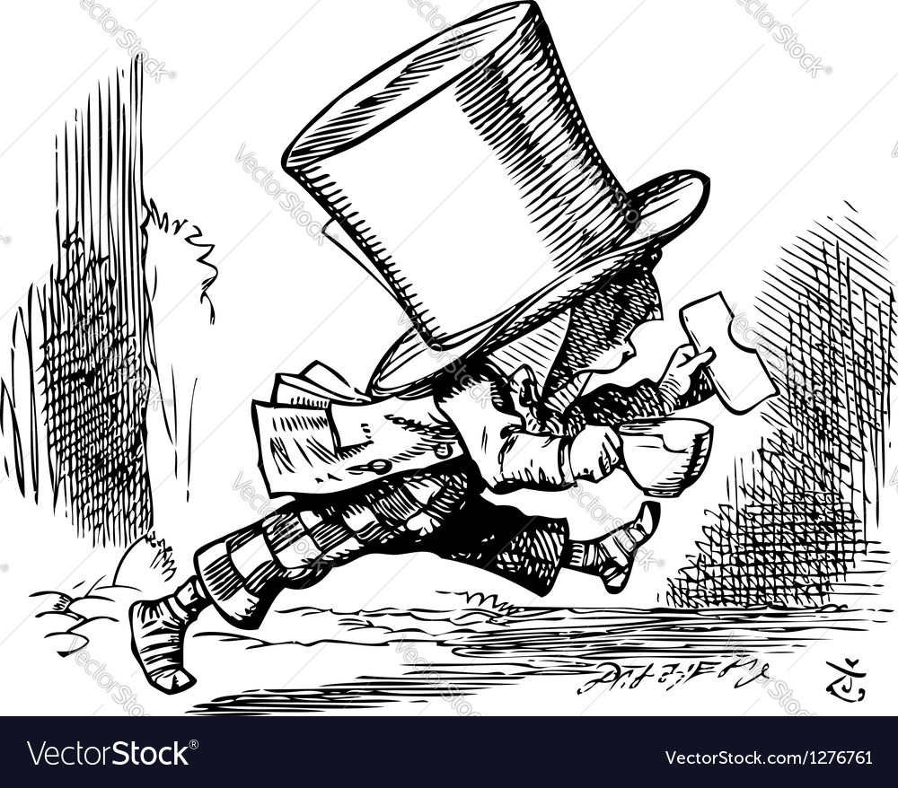 Mad Hatter vector image