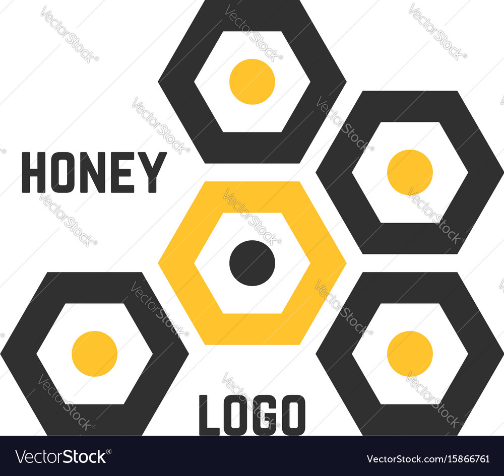 Simple honeycomb abstract logotype vector image
