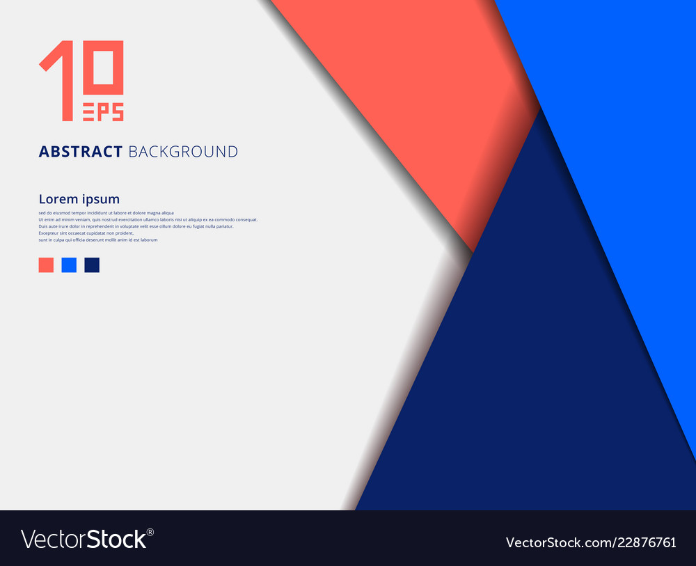 Template geometric colorful overlap layer on blue