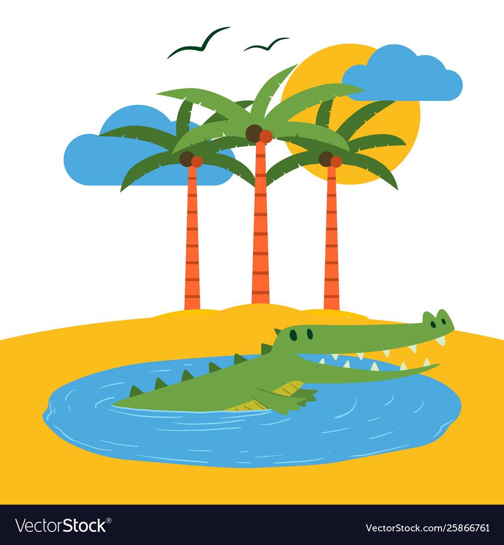 Terrarium tropical island banner