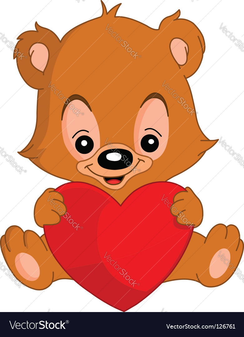 valentine teddy bear. Valentine Teddy Bear Vector