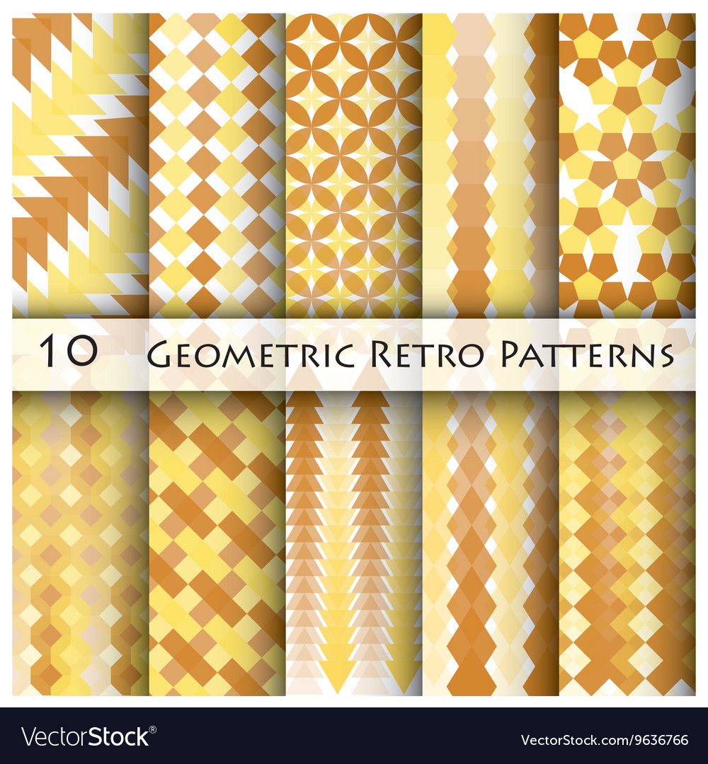 10 Geomatric Retro Pattern Graphic Design