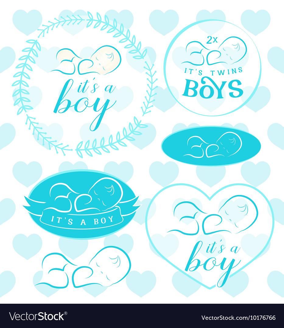 Baby Boy Badge Set