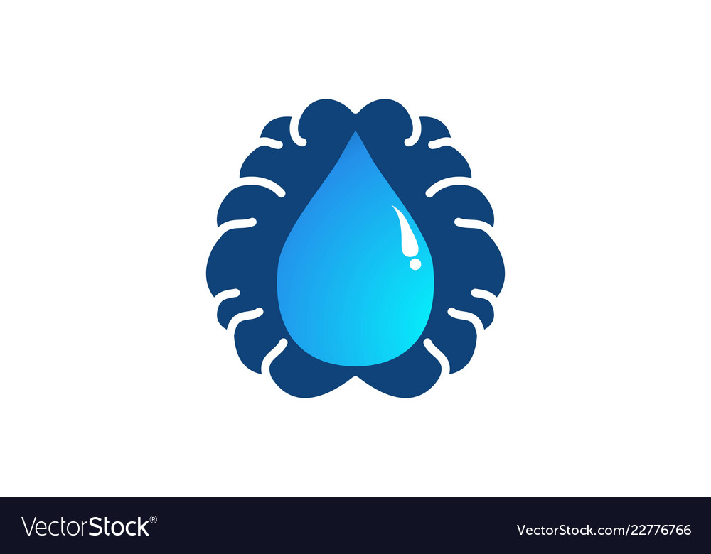 Brain and water drop logo designs inspiration