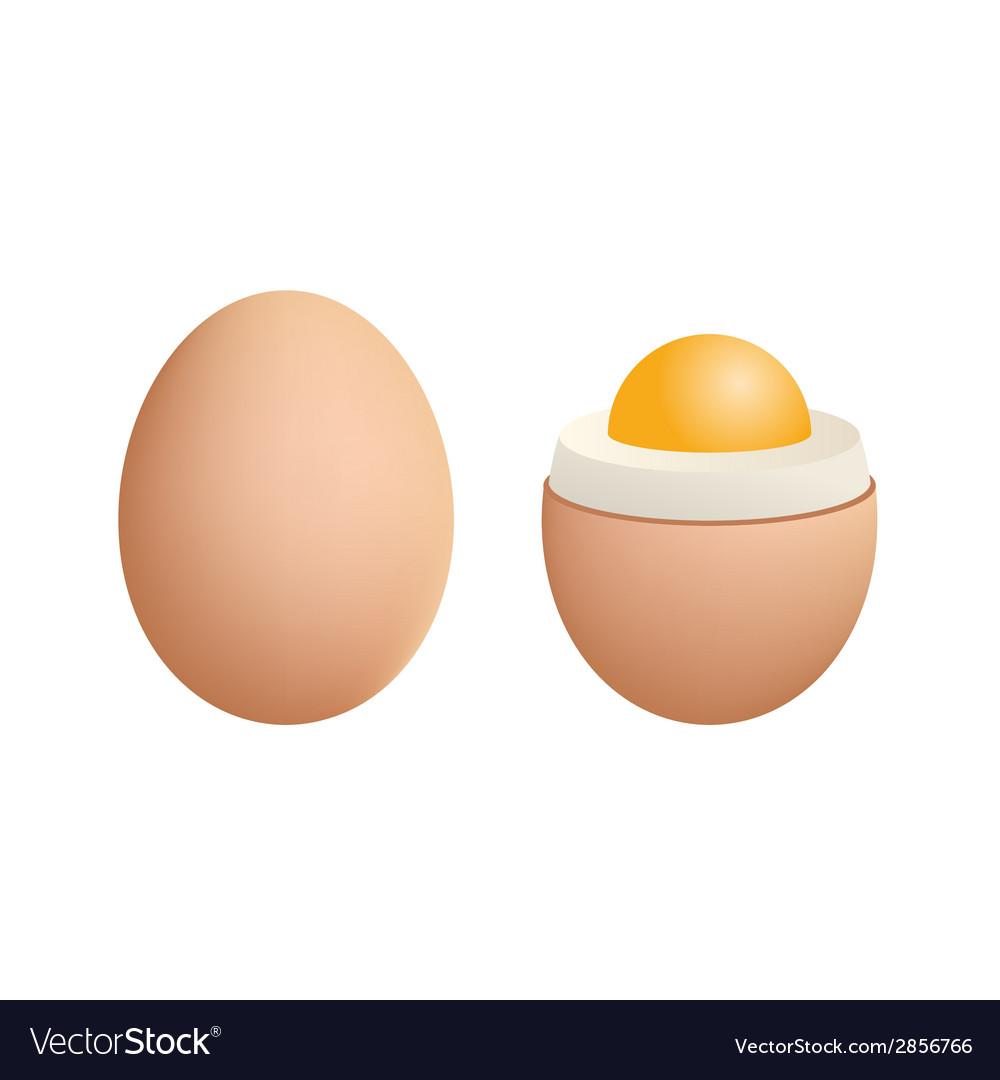 Broken Boiled Egg Isolated On White Background