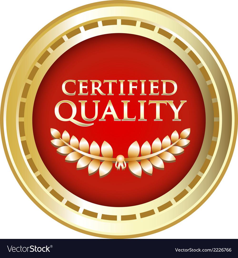 Certified Quality Gold Emblem