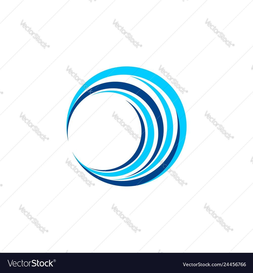 Circle wave logo symbol icon design
