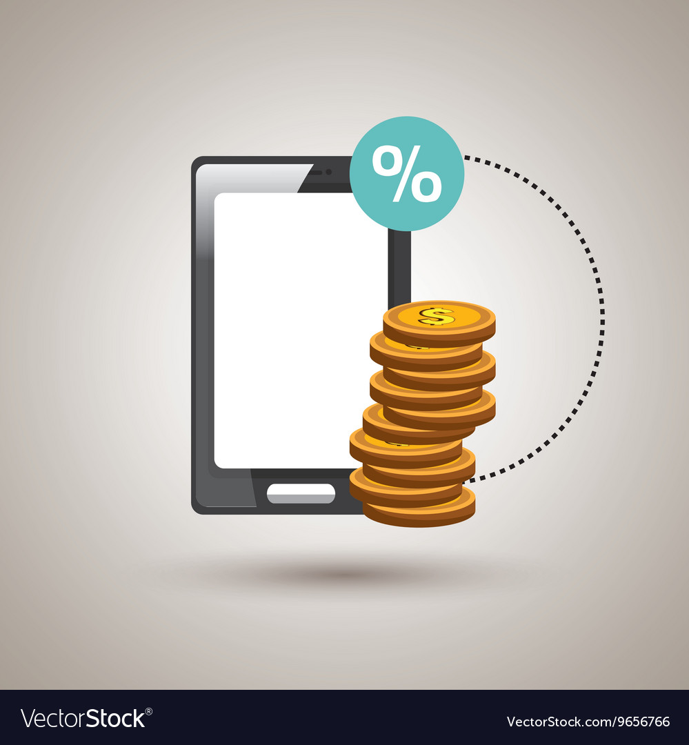 Economic business online isolated icon design