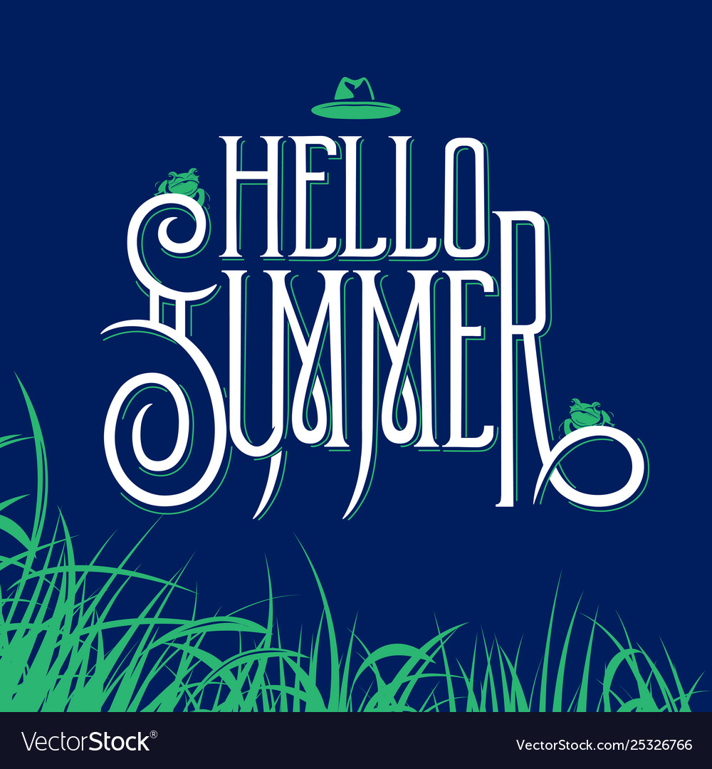 Hello summer lettering sign