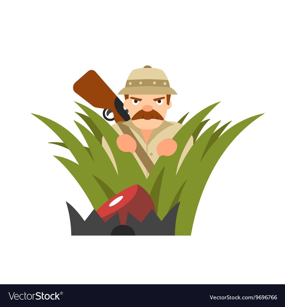 Hunter in ambush