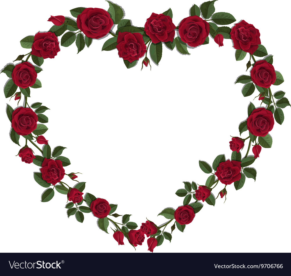 Roses in a heart shape symbol