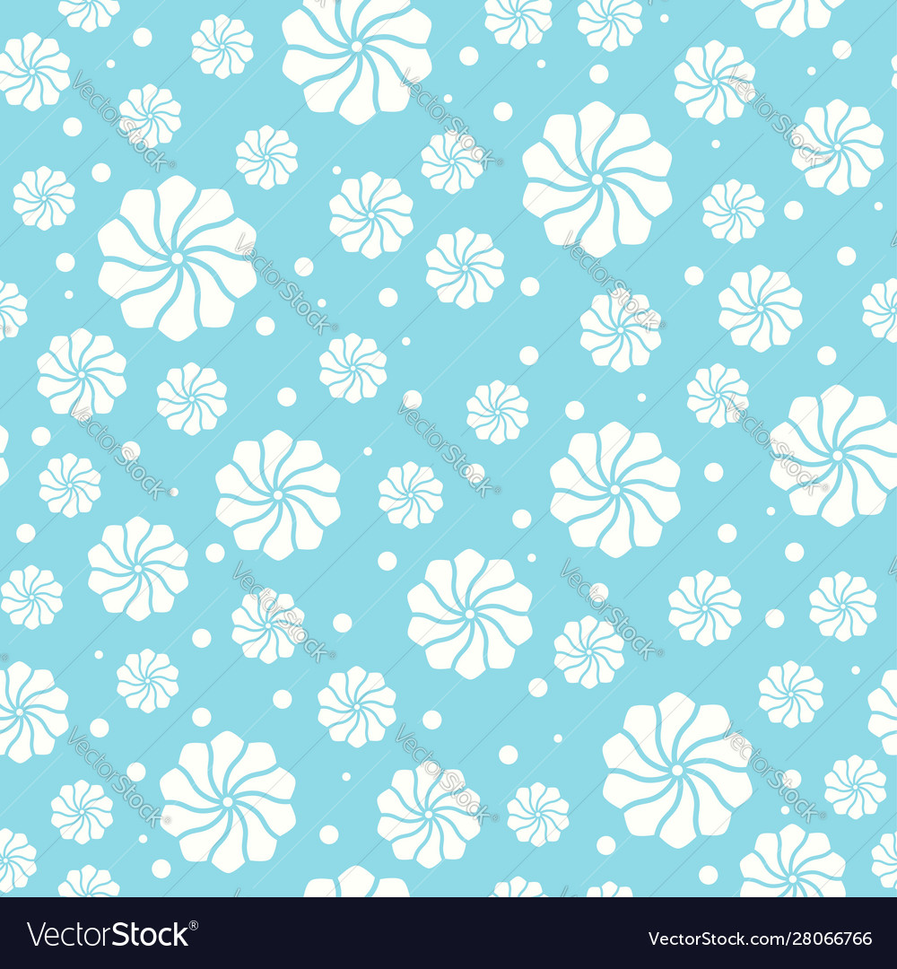 Seamless pattern with abstract floral elements