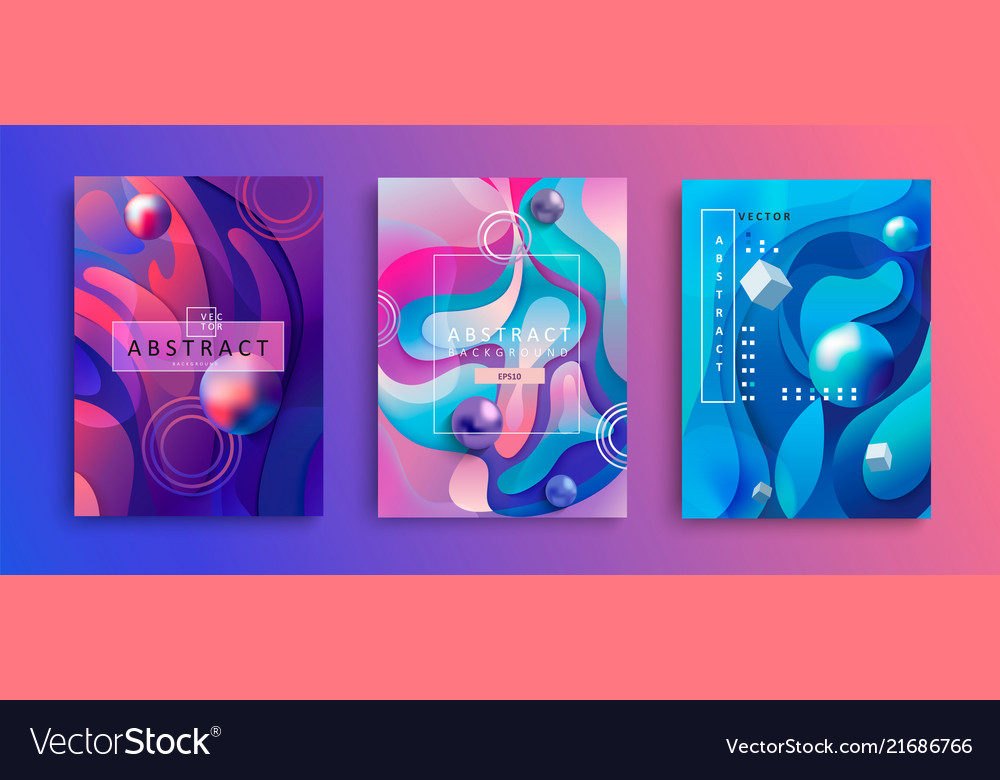 Set abstract gradient backgrounds vector
